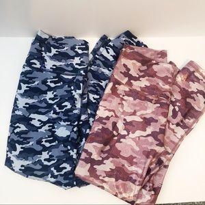 Fabletics Powerhold Camo leggings 2 pair size sm